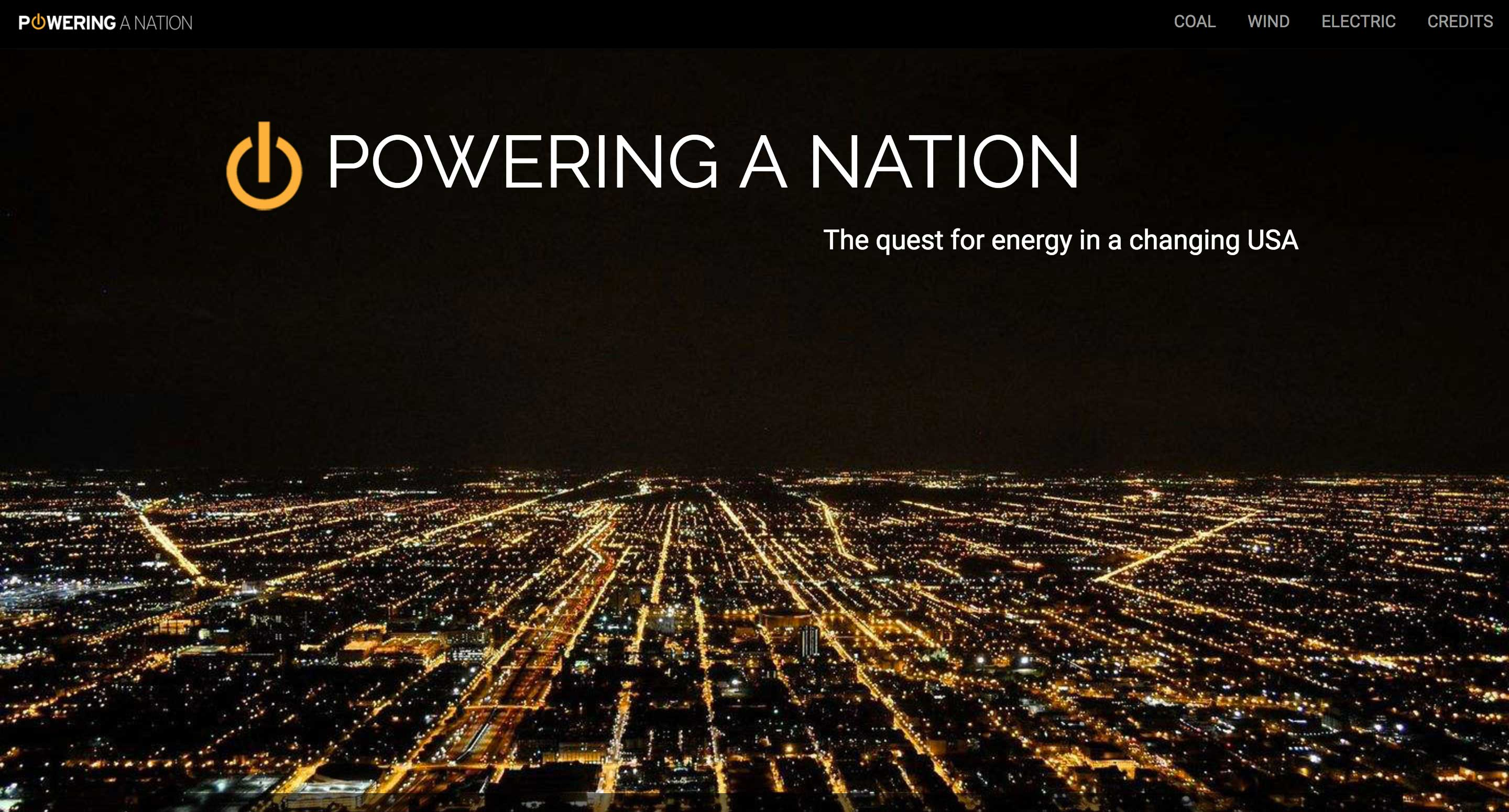 powering a nation homepage